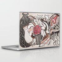 pomegranate Laptop & iPad Skins featuring pomegranate  by nene