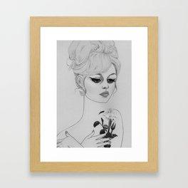 Brigitte Bardot v Black&White Framed Art Print