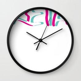 Techno Keta Rave Trippy EDM Glitch Hadstyle Wall Clock