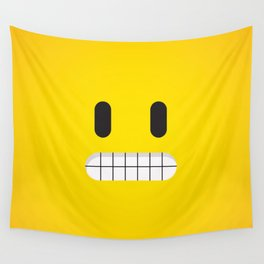 Grin emoji face Wall Tapestry