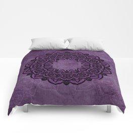Circle in Purple Comforters