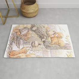 A group of cute Squirrels Rug