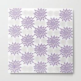 Purple and Lavender Flowers Metal Print
