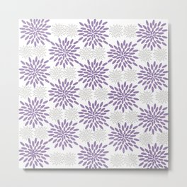 Purple and Lavender Flowers Metal Print