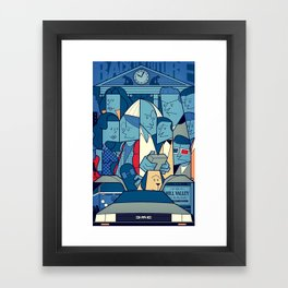 Back to the Future Framed Art Print