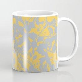 Sunshine Yellow - Broken but Flourishing Floral Pattern Coffee Mug