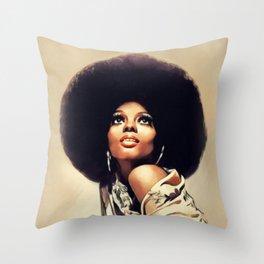 Diana Ross, Music Legend Throw Pillow