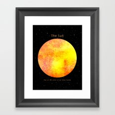The Sun  Framed Art Print