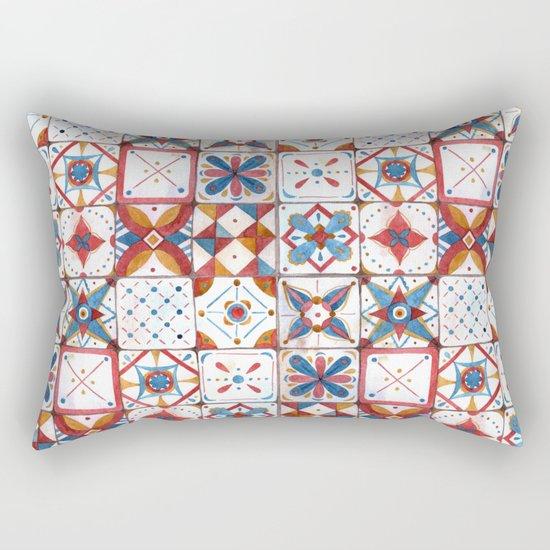 Tile pattern Rectangular Pillow
