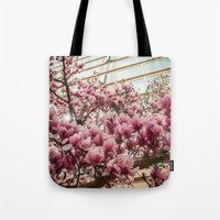 dc Tote Bags featuring DC Blossoms  by Ashley Hirst Photography