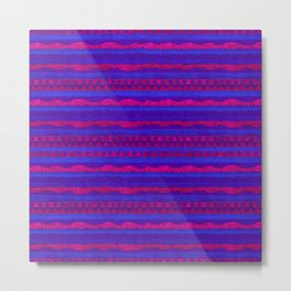 Violet Pattern Metal Print