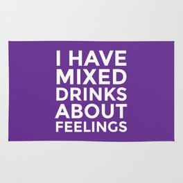 I HAVE MIXED DRINKS ABOUT FEELINGS (Purple) Rug