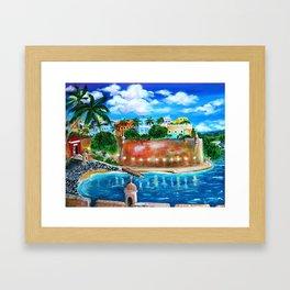 La Fortaleza, Old San Juan, Puerto Rico Framed Art Print