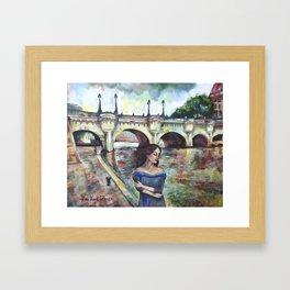 Under Paris skies. Framed Art Print