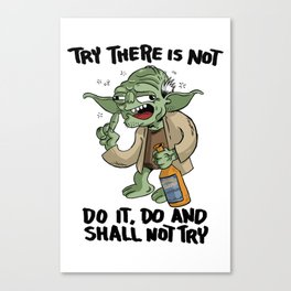 Drunk Master Yoda Canvas Print