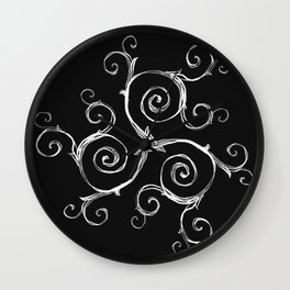 Magic Mandala Twisted Triskele Wall Clock