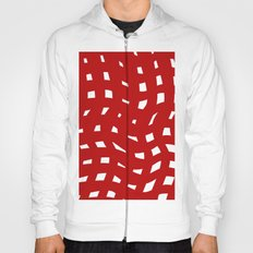 Red and White Hoody
