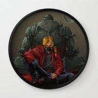 fullmetal Wall Clocks featuring Don't Forget by Xeraki
