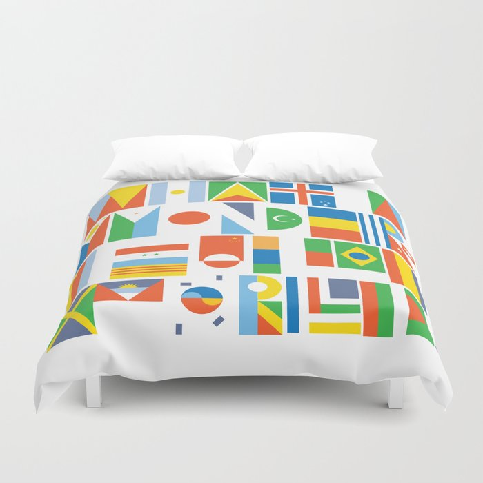 What A Wonderful World II Duvet Cover