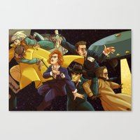 superwholock Canvas Prints featuring Back to the Mystery of the X-Files by Groovy Bastard