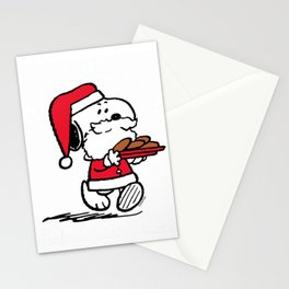 Peanuts Snoopy Santa Cookies T-shirt Stationery Cards
