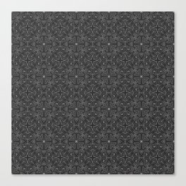 Gray Swirl Pattern Canvas Print