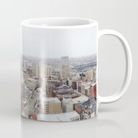 detroit Mugs featuring Downtown Detroit by Michelle & Chris Gerard