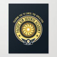 pacific rim Canvas Prints featuring Pacific Rim Defense Academy by fishbiscuit