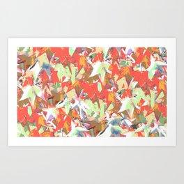 Maple Leaf Camo Art Print