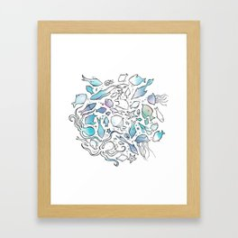 Colorful Sealife Framed Art Print