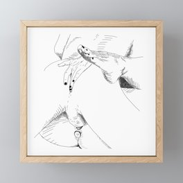 what what in the butt Framed Mini Art Print