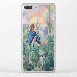 Cactus Land Clear iPhone Case