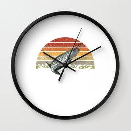 Vintage Musky Shirt Muskie   Pike   Muskellunge Wall Clock