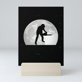 Tree Cutter Moon Ax Forester Mini Art Print