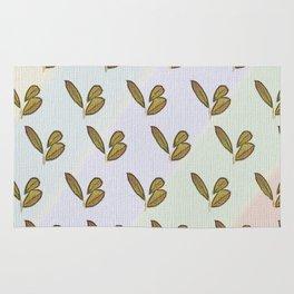 Very stylish hand drawn retro botanical interior and textile design pattern on canvas Rug