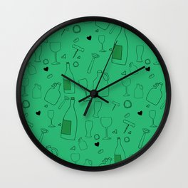 Drink Up Wall Clock
