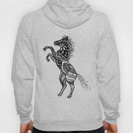 Rearing Horse Zentangle (abstract doodle) Hoody