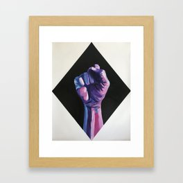 Bi Pride artwork, Bisexual pride resist fist, Bisexual artwork Framed Art Print