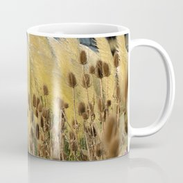 Tails of fox and thistles in the pampas. Coffee Mug