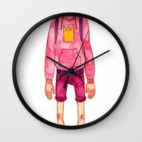 gumball Wall Clocks featuring Prince Gumball by FawnLorn