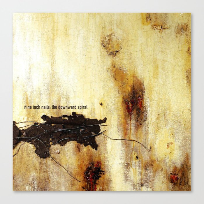 NIN - The Downward Spiral Canvas Print by albumerch | Society6