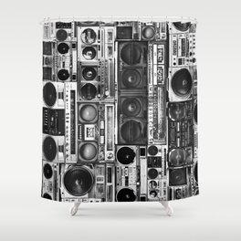 boombox apparel Shower Curtain