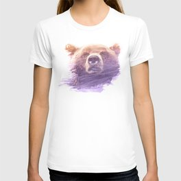 BEAR SUPERIMPOSED WATERCOLOR T-shirt