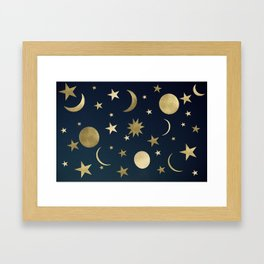 Starry Night #1 #decor #art #society6 Framed Art Print