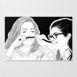 Orphan Black - Evelyne Brochu Dread Mustache (Original Artwork Print) Canvas Print