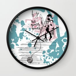 Τhe thread of life Wall Clock