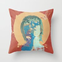 water color Throw Pillows featuring water color by THE83JUICE