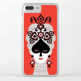 The Queen of spades Clear iPhone Case