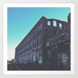 Abandoned Warehouse Art Print