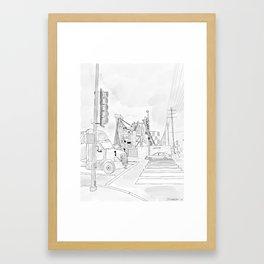 1000 N. La Brea Framed Art Print